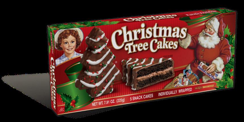 Christmas Tree Snack Cakes  Christmas Tree Cake Choc