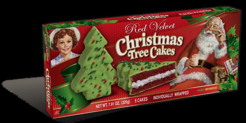 Christmas Tree Snack Cakes  Red Velvet Christmas Tree Cakes