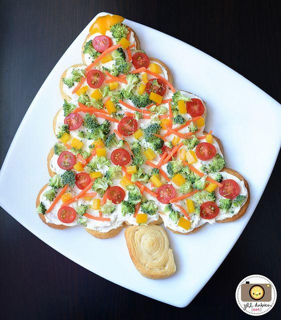 Christmas Tree Veggie Pizza  Pinterest • The world's catalog of ideas