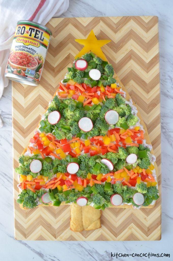 Christmas Tree Veggie Pizza  Christmas Tree Veggie Pizza Kitchen Concoctions