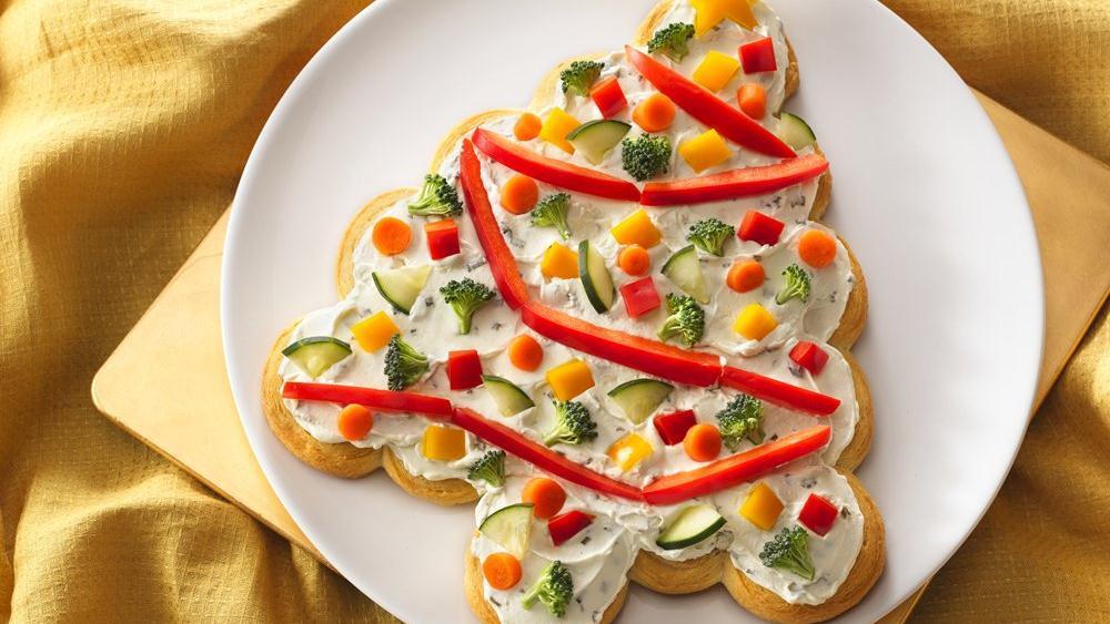 Christmas Tree Veggie Pizza  recipenotfound from Pillsbury