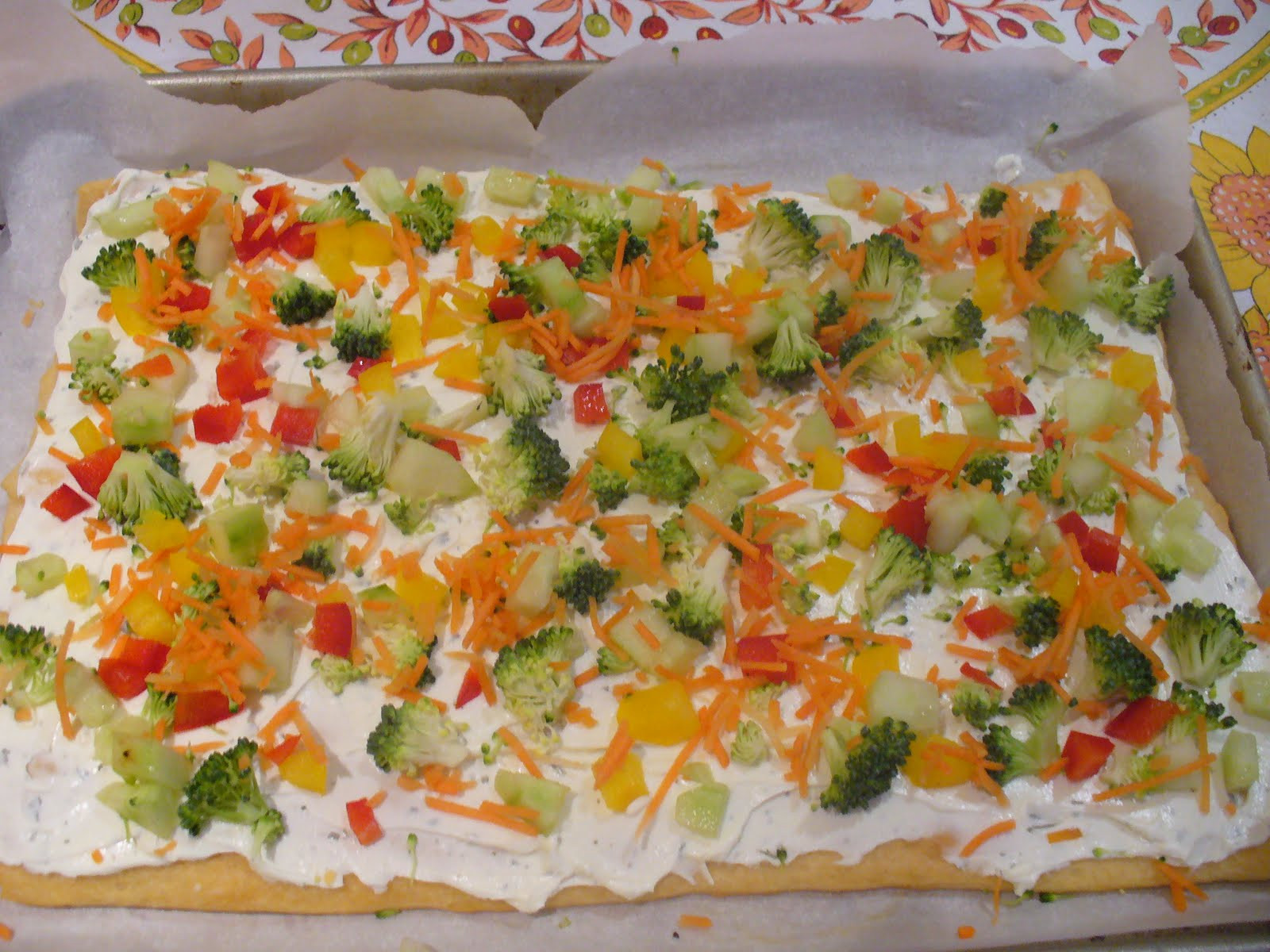 Christmas Tree Veggie Pizza  Recipe Shoebox Christmas Tree Veggie Pizza