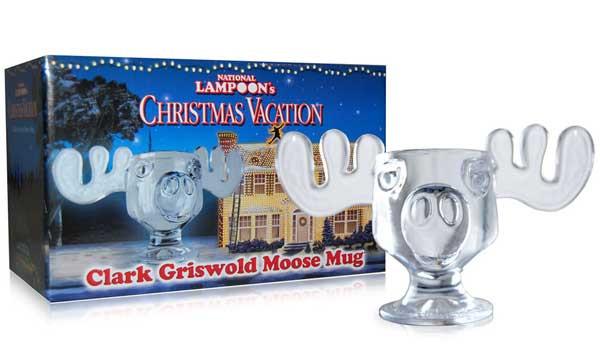 Christmas Vacation Eggnog Glasses  National Lampoons Christmas Vacation Marty Moose Glass