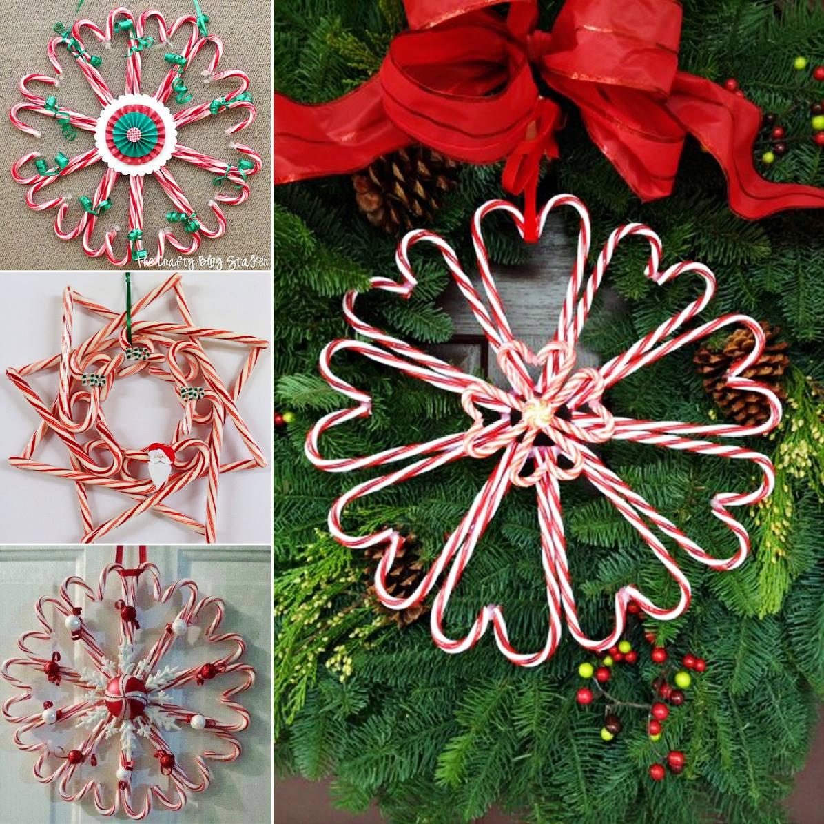 Christmas Wreath Candy  Wonderful DIY Easy Ribbon Christmas Wreath