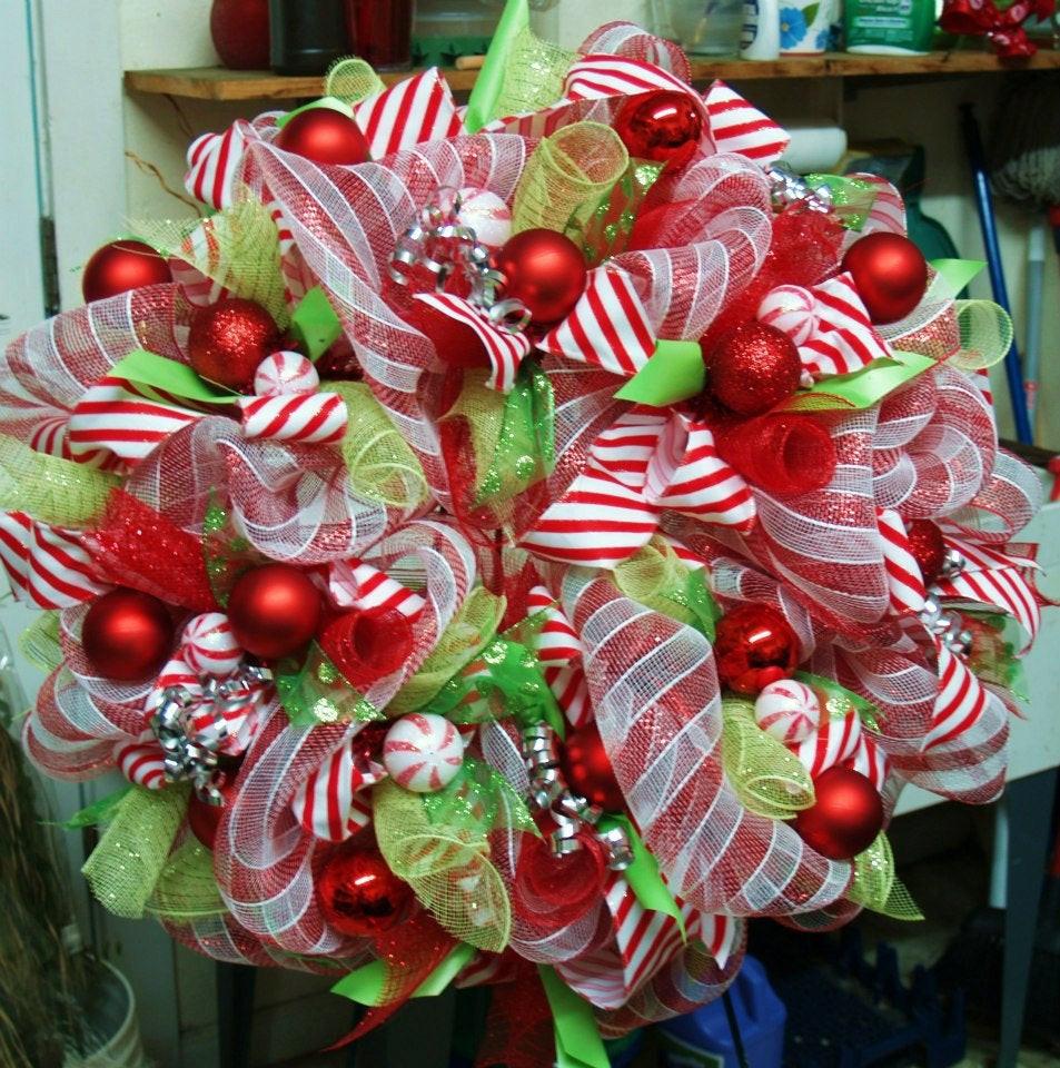 Christmas Wreath Candy  Candy Themed De esh Christmas Wreath