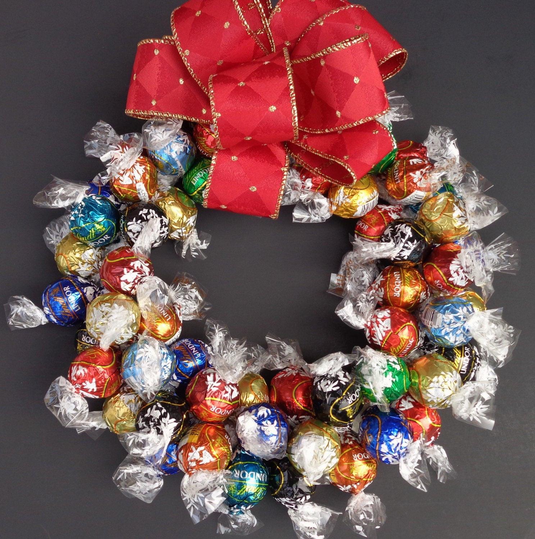 Christmas Wreath Candy  Chocolate Truffle Candy Wreath Holiday by CandyWreathsbyCarla