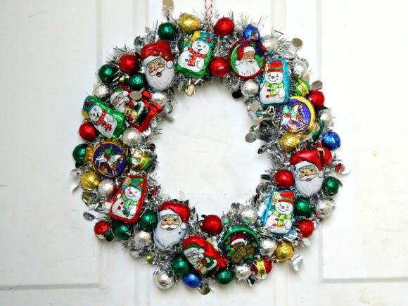 Christmas Wreath Candy  Make a Christmas Candy Wreath Dollar Store Crafts