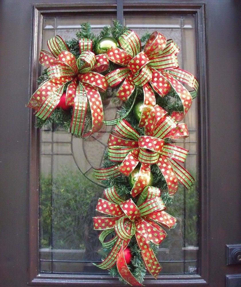 Christmas Wreath Candy  Candy Cane Wreath Christmas Wreath Candy Cane Decoration