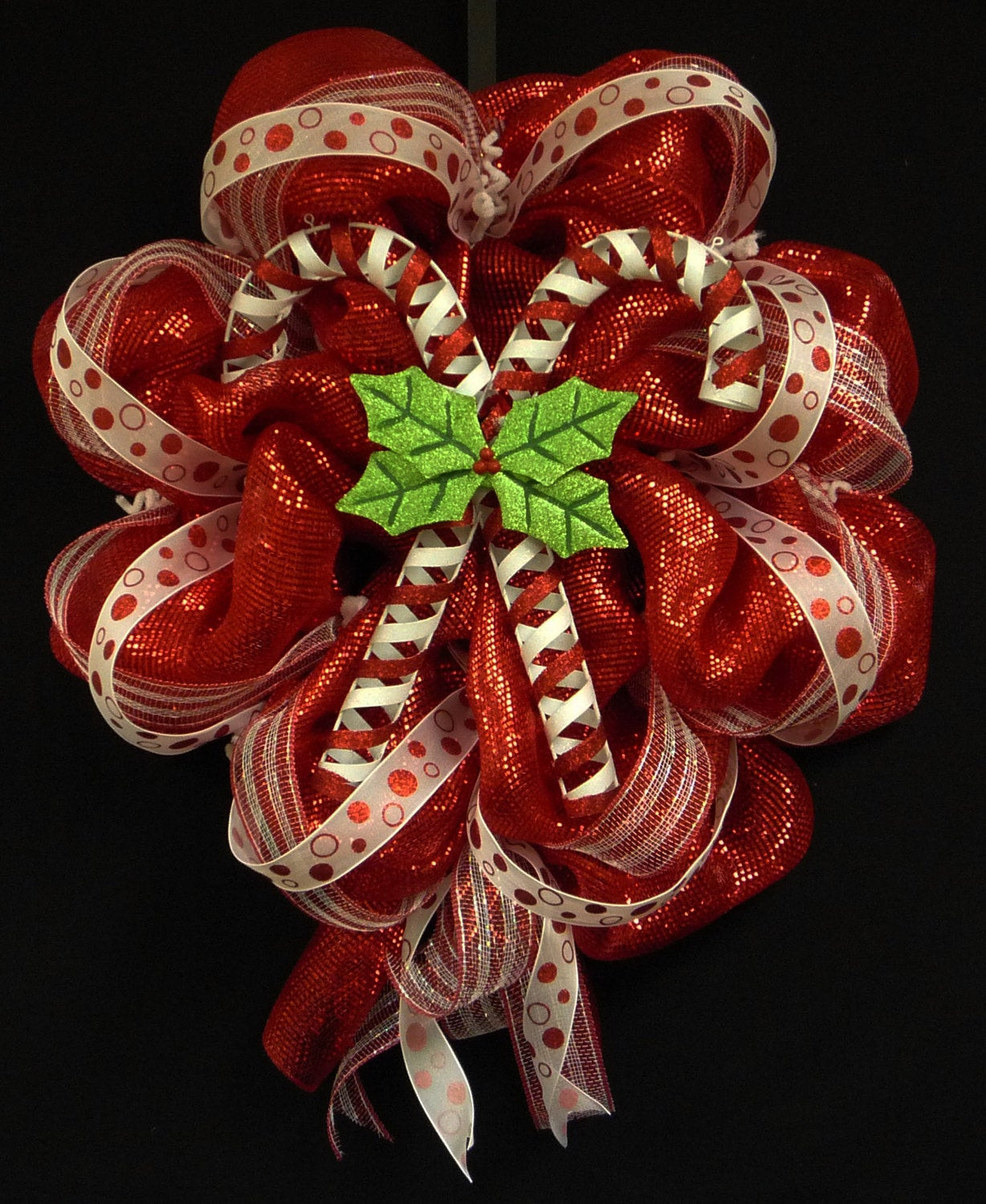 Christmas Wreath Candy  Candy Cane Wreath Christmas Wreath Red White Wreaths Poly