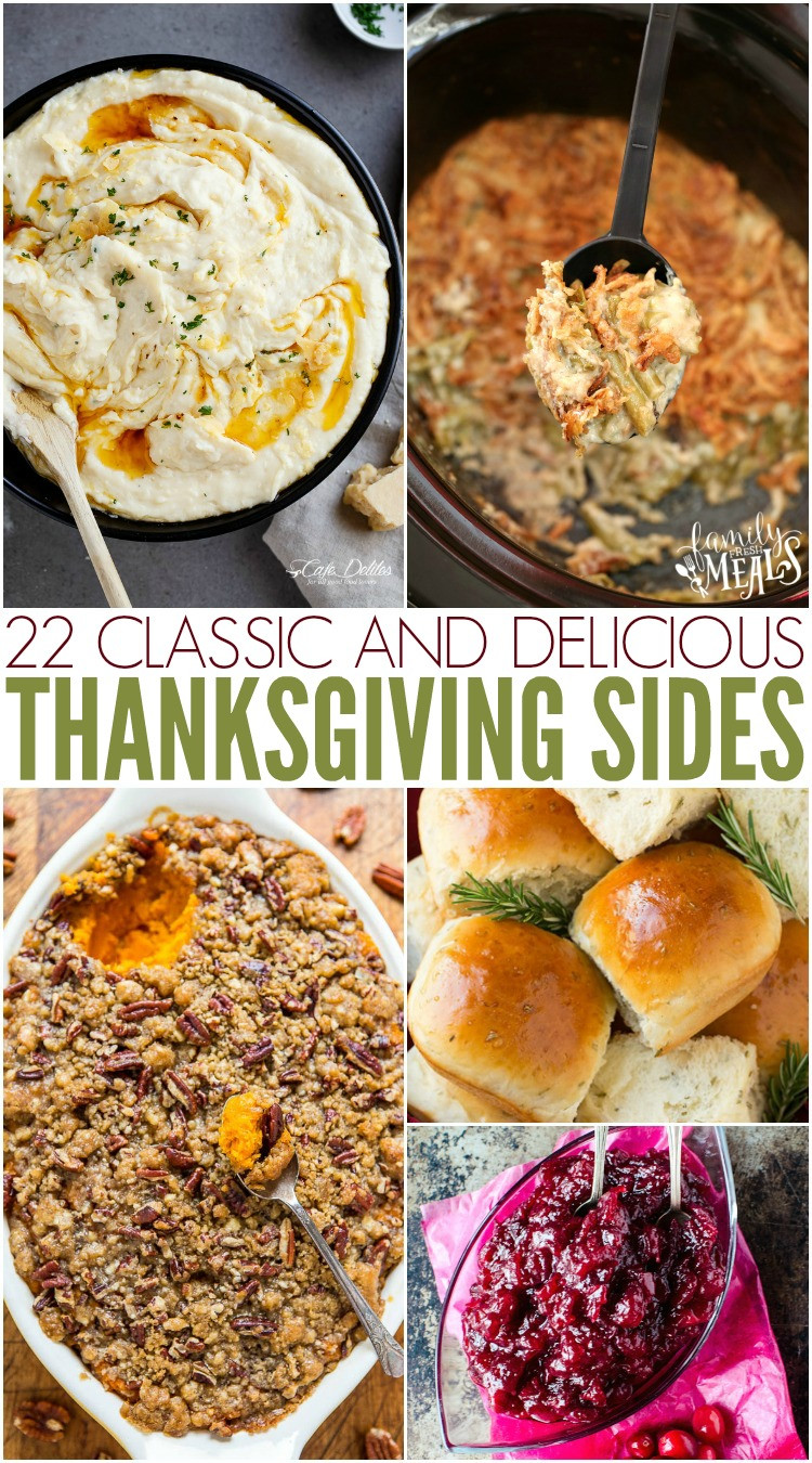 Classic Thanksgiving Desserts  Classic Thanksgiving Side Dish Recipes Family Fresh Meals