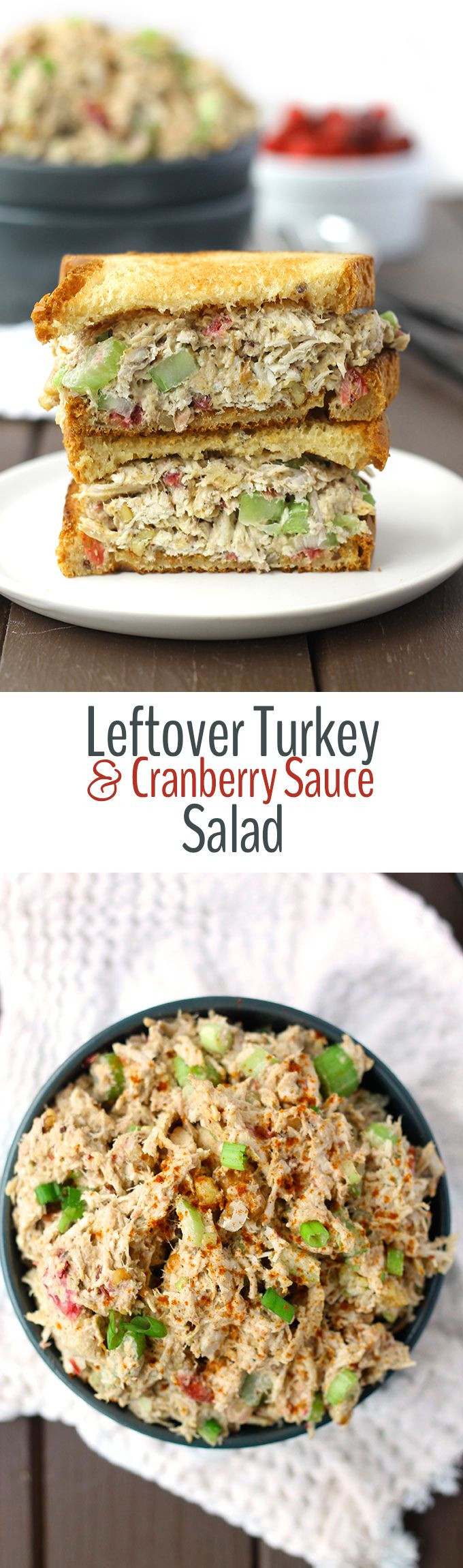 Cold Salads For Thanksgiving  Leftover Turkey and Cranberry Sauce Salad