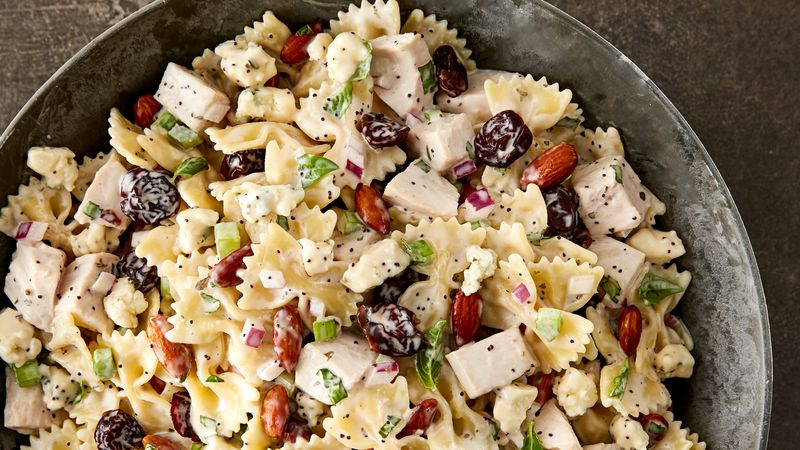 Cold Salads For Thanksgiving  Turkey Cherry and Almond Pasta Salad Recipe Tablespoon