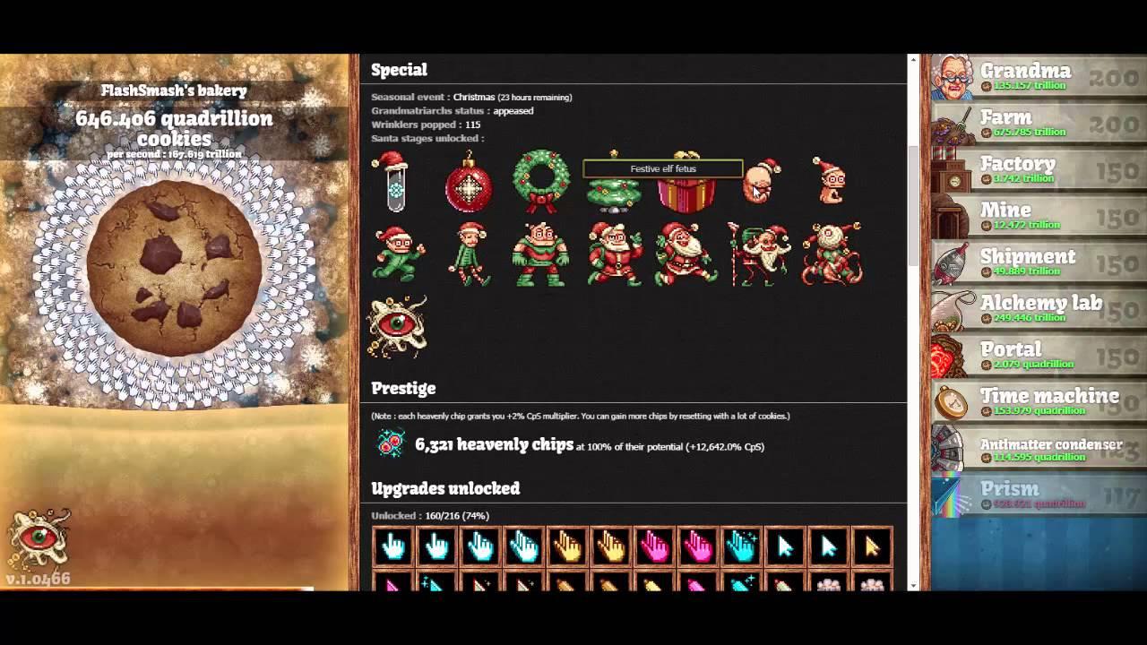 Cookie Clicker Christmas Cookies  Holiday Cookies Cookie er