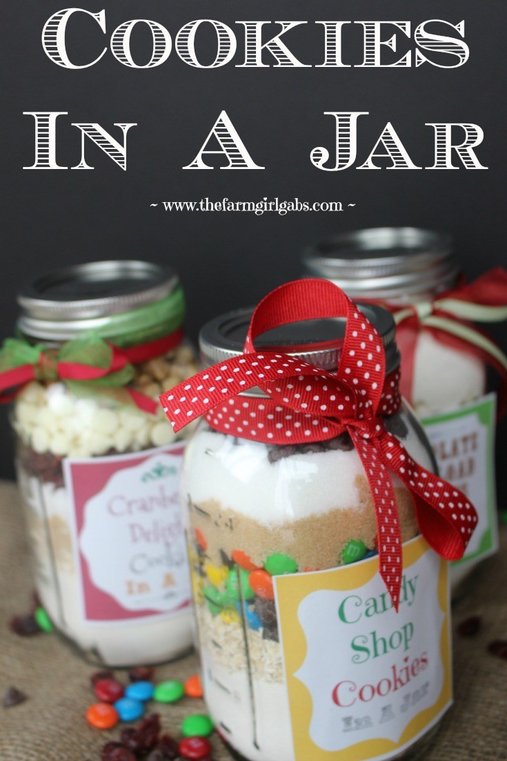 Cookies For Christmas Gifts  Cookies in a Jar A Perfect Gift Idea