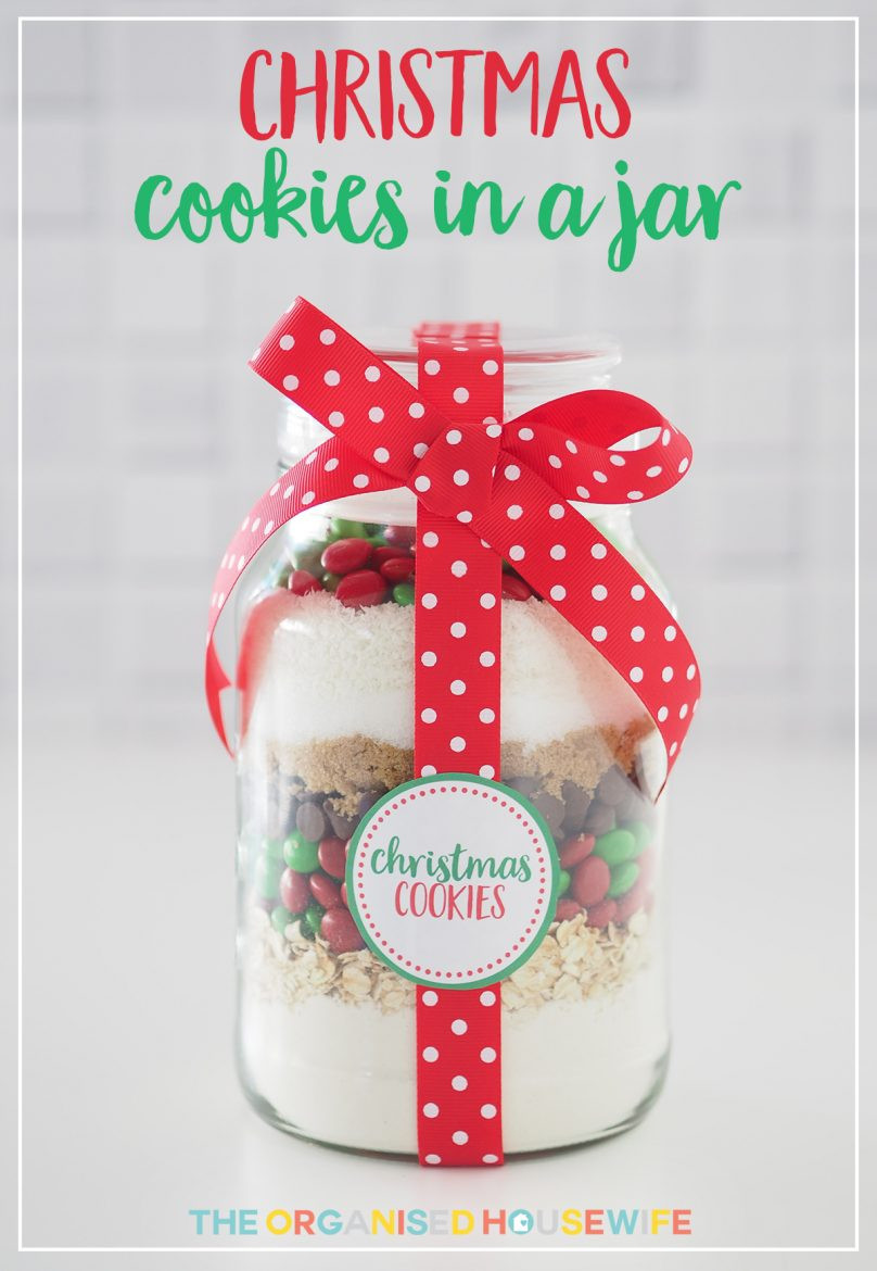 Cookies For Christmas Gifts  Gift Idea Christmas Cookie Mix in a Jar The Organised