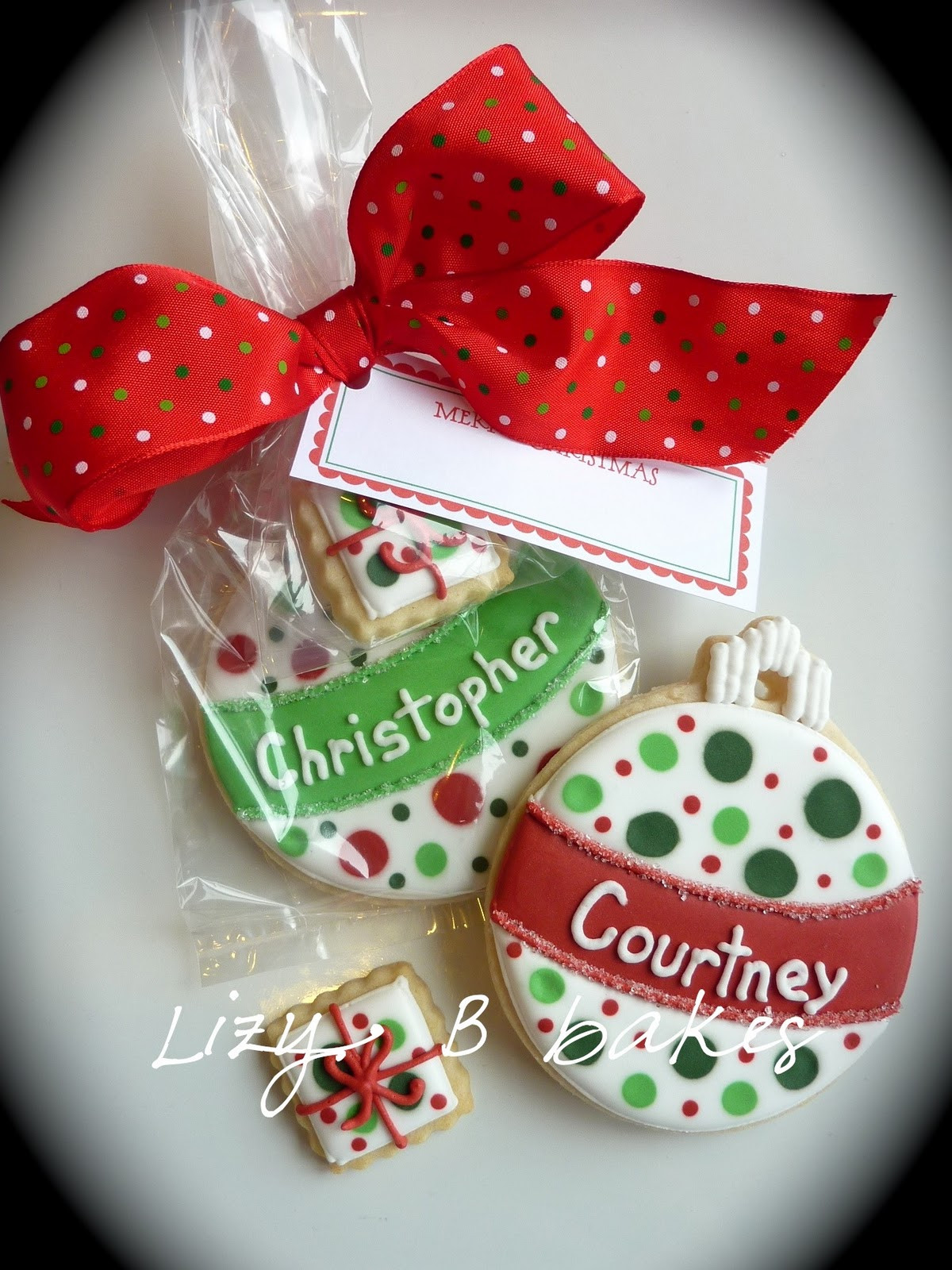 Cookies For Christmas Gifts  Lizy B Personalized Christmas Cookies