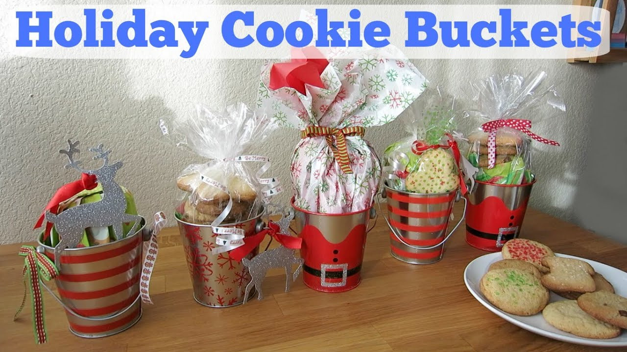 Cookies For Christmas Gifts  DIY Holiday Cookie Buckets