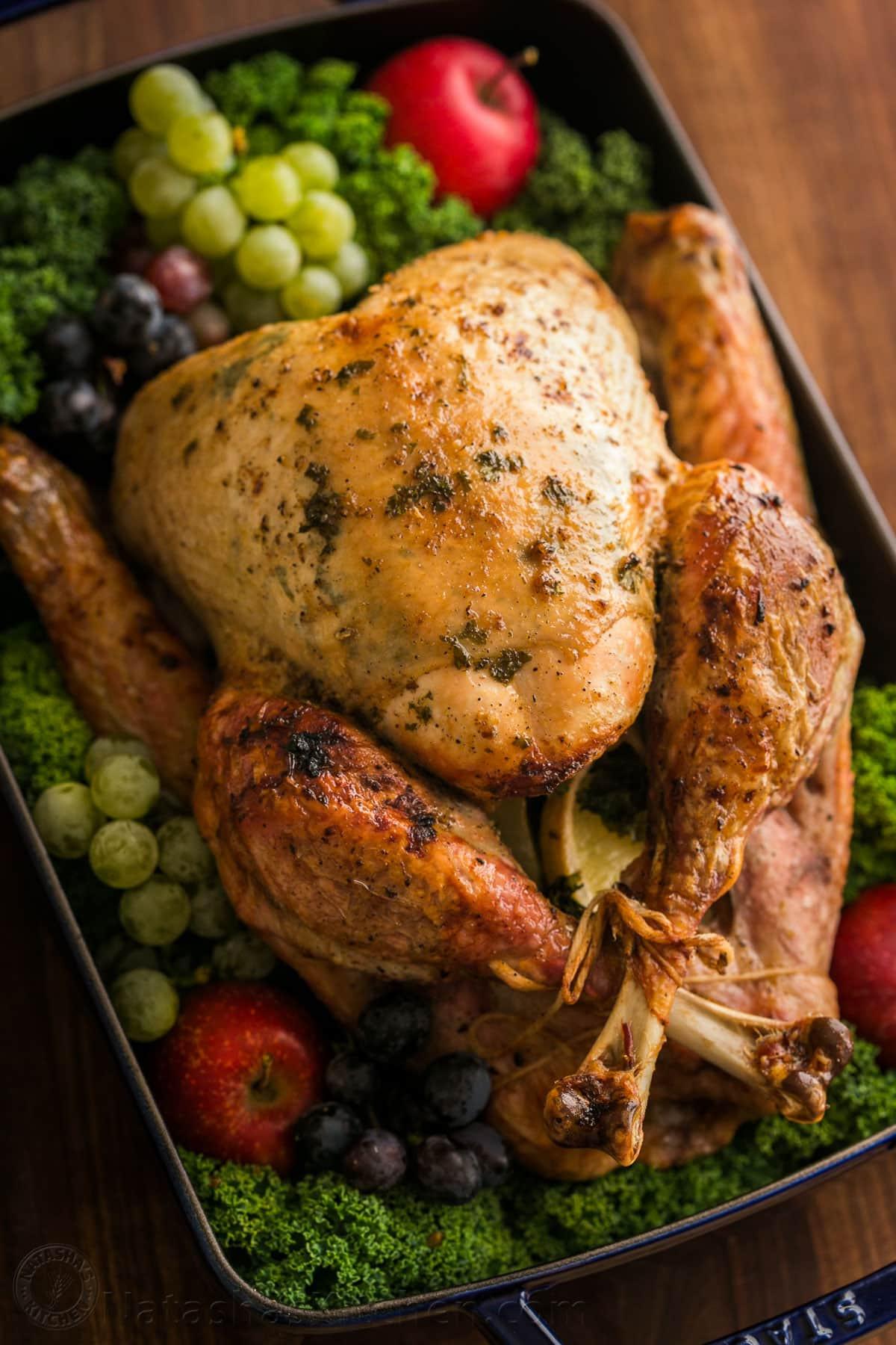 Cooking Thanksgiving Turkey  Thanksgiving Turkey Recipe VIDEO NatashasKitchen