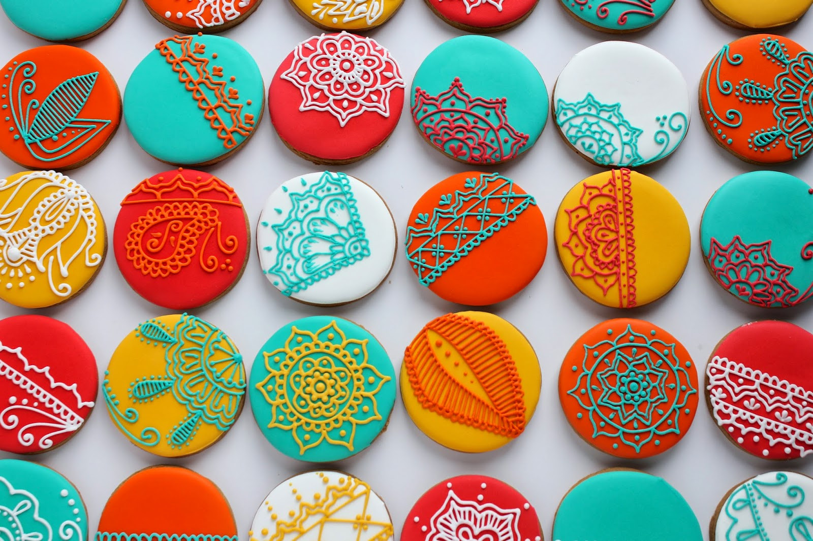 Cool Christmas Cookies  Sugar Bea s Blog Henna inspired Christmas Cookies for