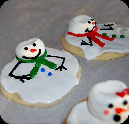 Cool Christmas Cookies  Melted Snowman Cookies