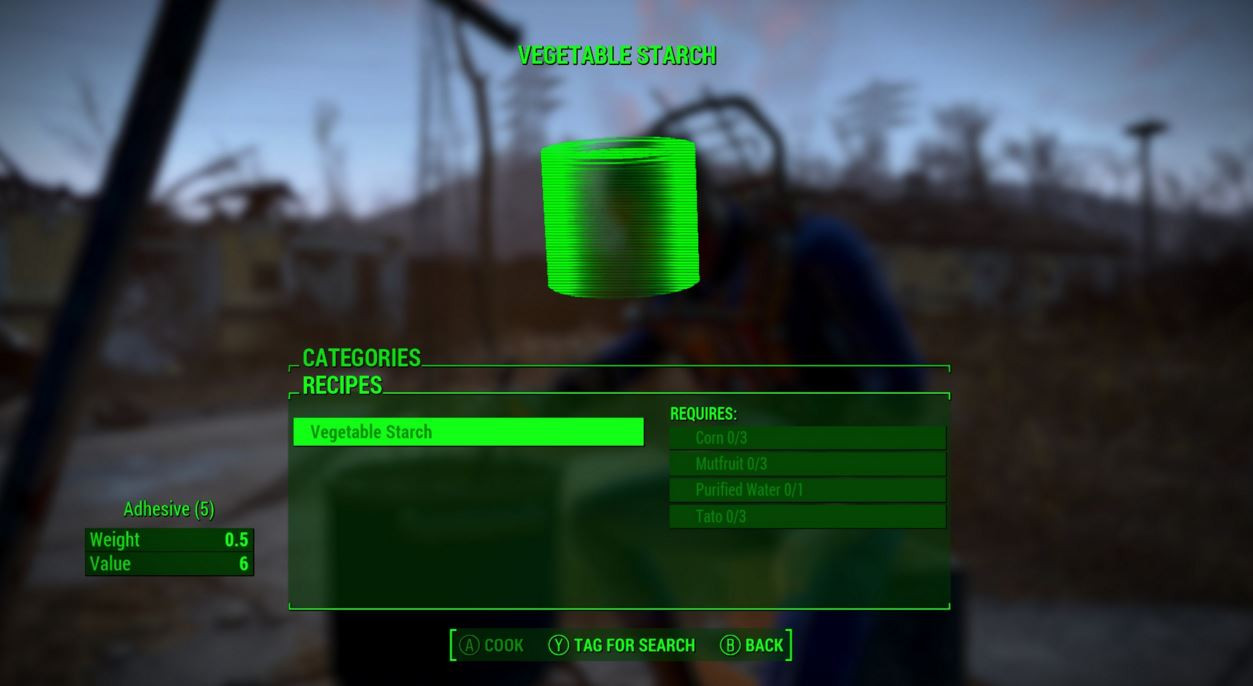 Corn Fallout 4  Fallout 4 Guide A renewable way to create your own Adhesive