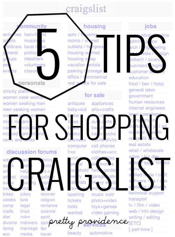 Craigslist Thanksgiving Dinner  5 Tips For Shopping Craigslist Pretty Providence
