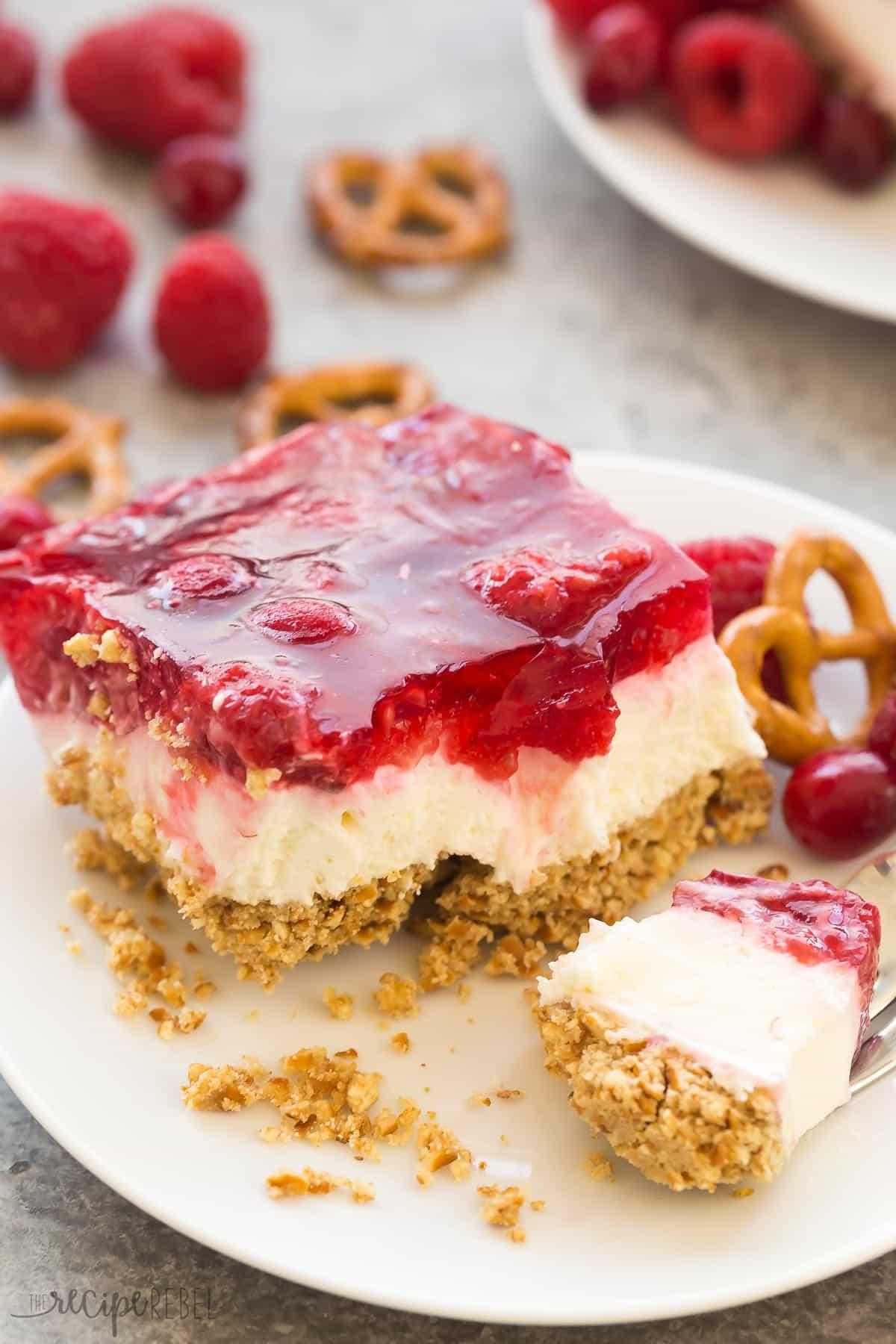 Cranberry Desserts For Thanksgiving  Cranberry Raspberry Pretzel Salad Dessert VIDEO