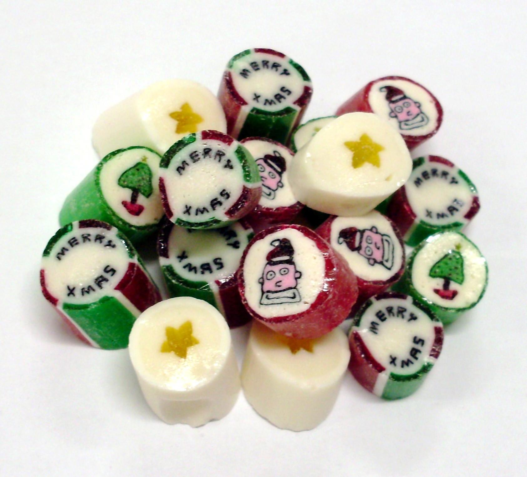 Cut Rock Christmas Candy  Christmas Mix Rock Candy