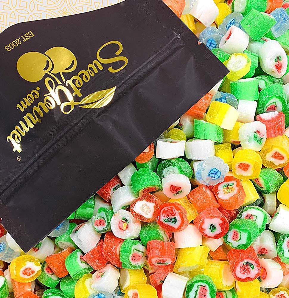 Cut Rock Christmas Candy  Amazon Primrose Rainbow Gems Hard Candy 1 Pound Bag