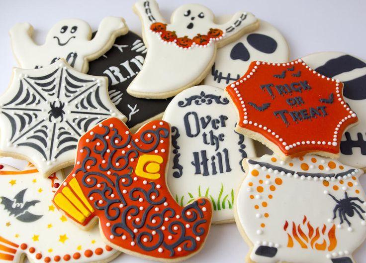 Cute Halloween Cookies  Halloween Stenciled Cookies