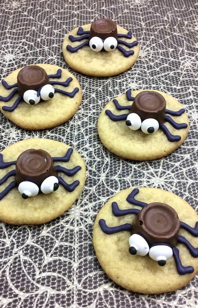 Cute Halloween Cookies  Cute & Easy Halloween Spider Cookies In the Kids Kitchen