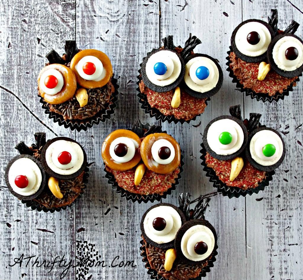 Cute Halloween Cupcakes  Hootie Owl Cupcakes