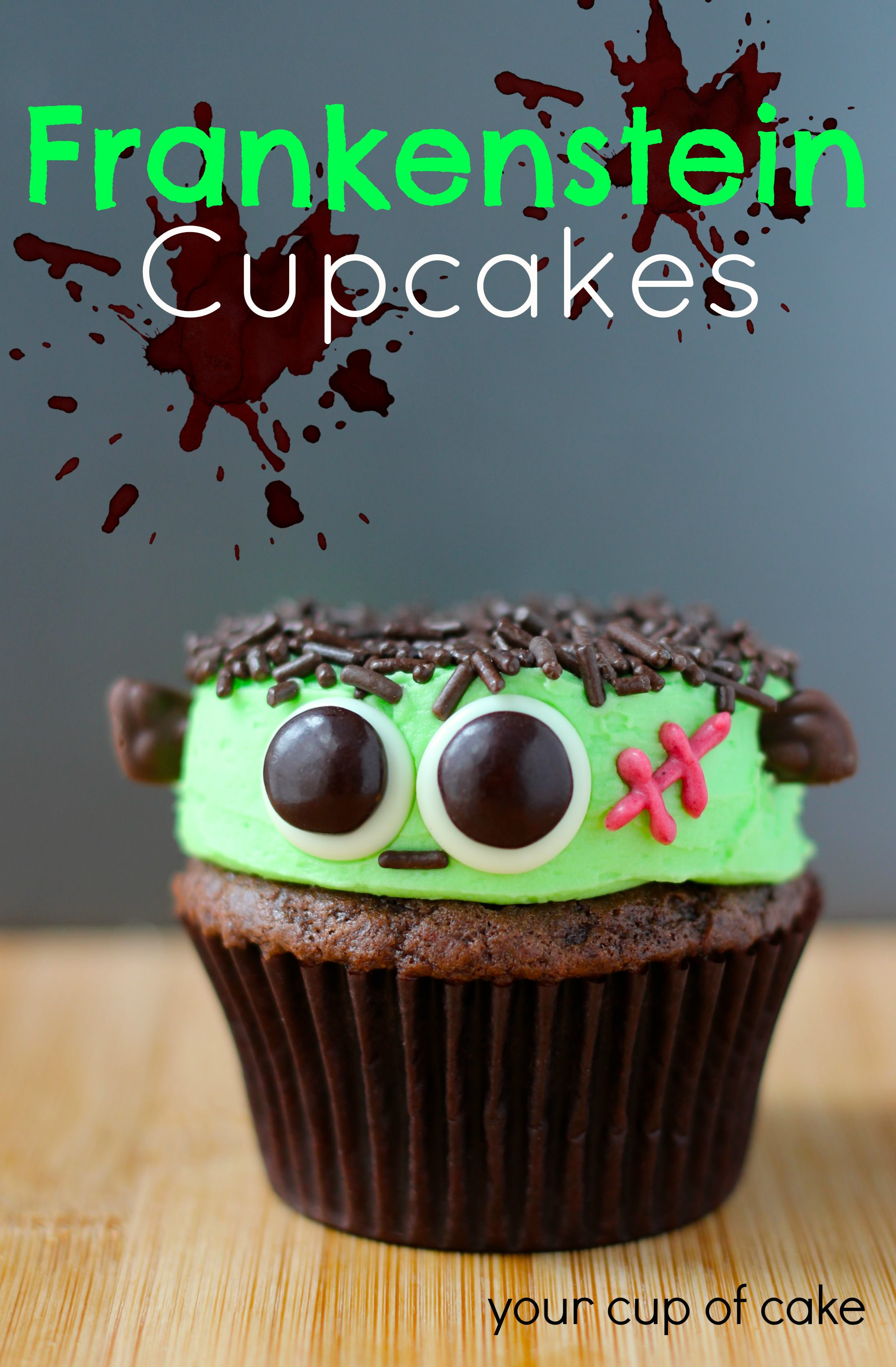 Cute Halloween Cupcakes  Frankenstein Cupcakes Your Cup of Cake