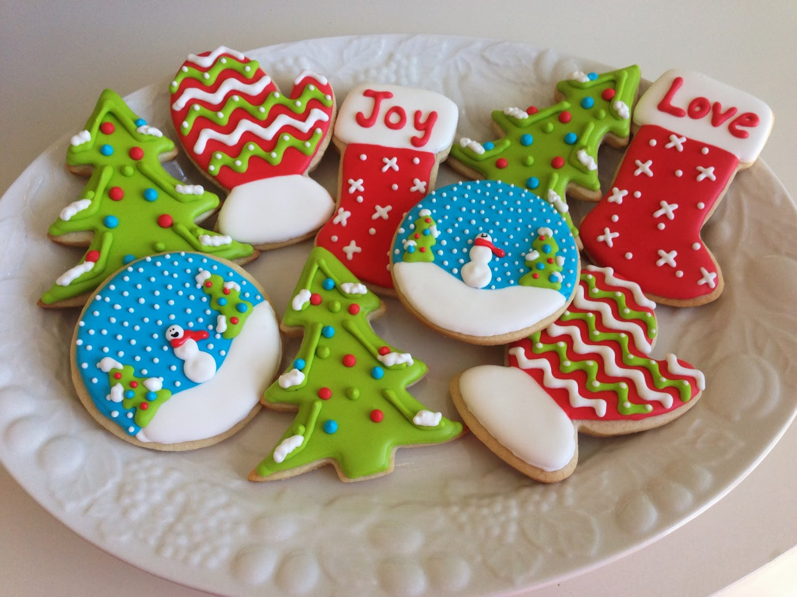 Cutout Christmas Cookies  monograms & cake Christmas Cut Out Sugar Cookies with