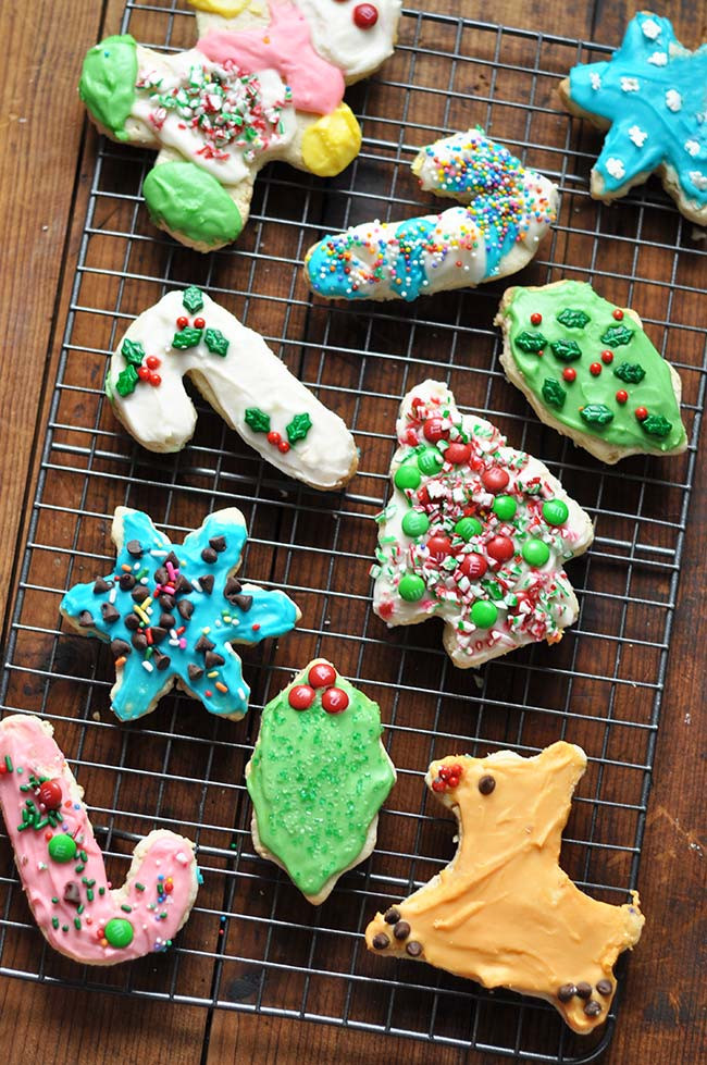 Cutout Christmas Cookies  Christmas Cutout Cookies with Buttercream Frosting