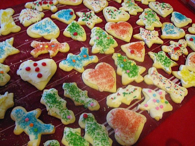 Cutout Christmas Cookies  Mary Ann s House Cut Out Sugar Cookies