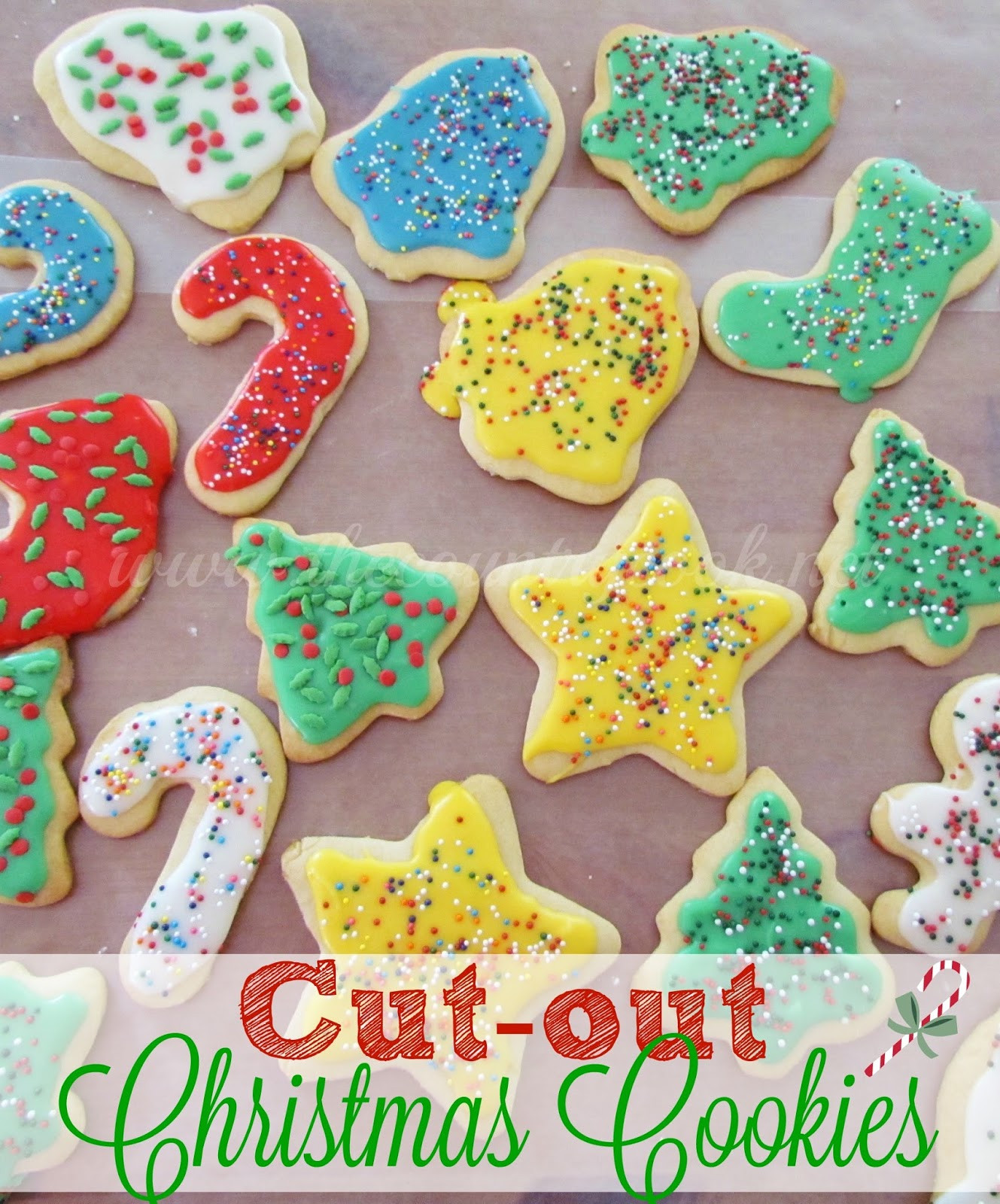 Cutout Christmas Cookies  Cut Out Sugar Cookies The Country Cook