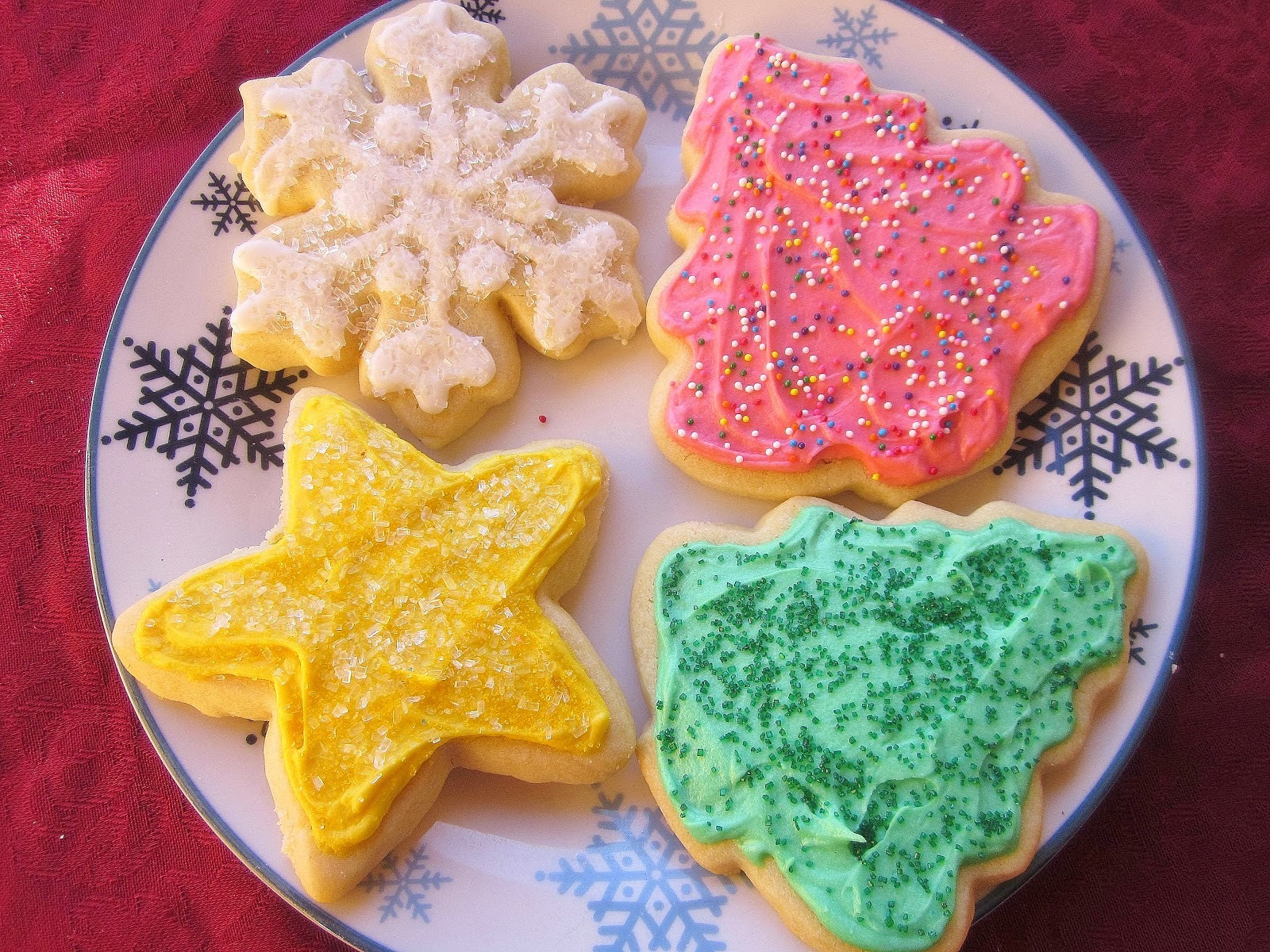 Cutout Christmas Cookies  Dimples & Delights Soft & Thick Cut Out Sugar Cookies