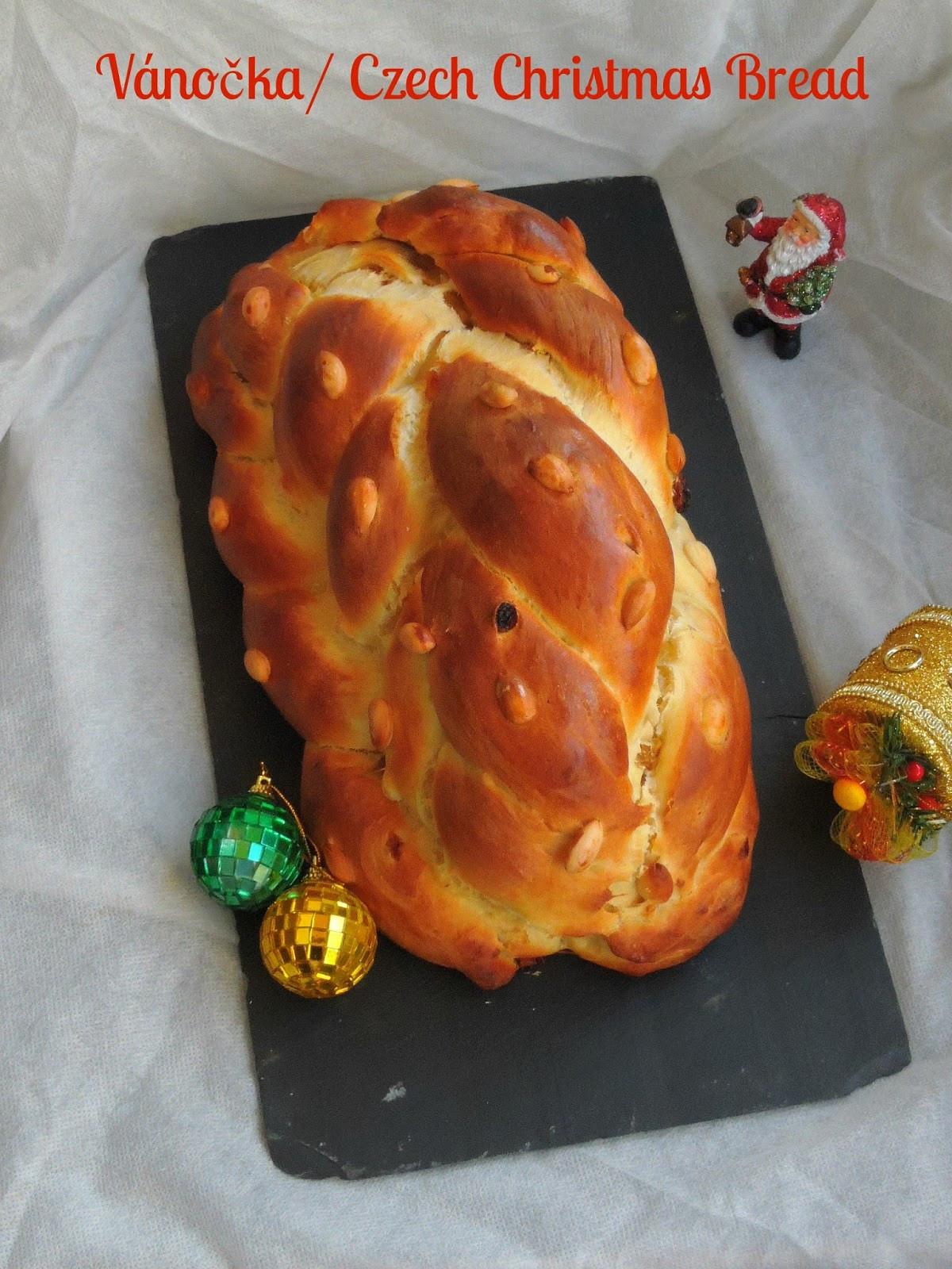 Czech Christmas Bread  Priya s Versatile Recipes Vánočka Vanocka Czech