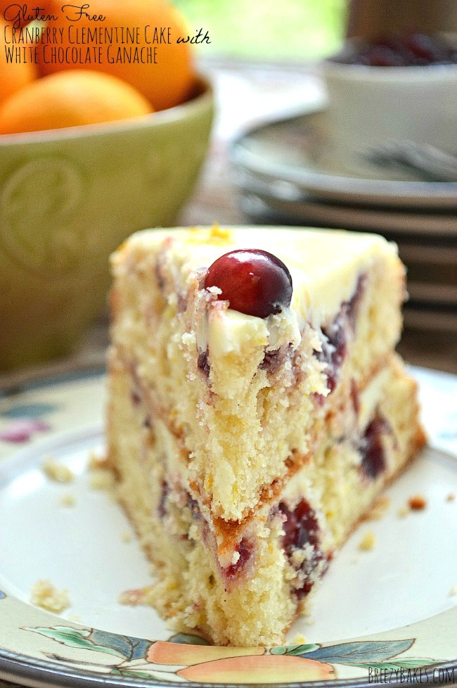 Dairy Free Christmas Desserts  Gluten Free Cranberry Clementine Cake with White Chocolate