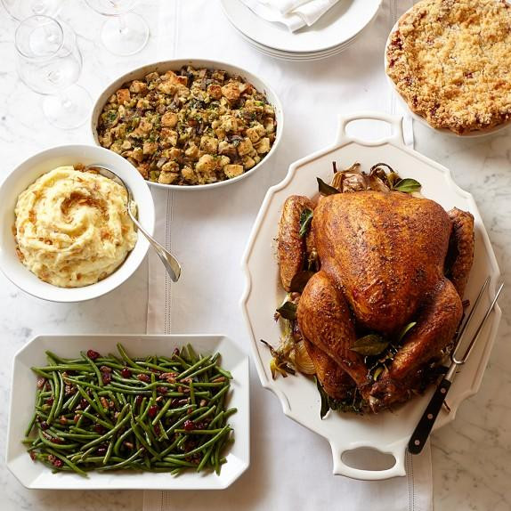 Delivered Thanksgiving Dinners  Turkey Dinner Delivered Christmas from Williams Sonoma