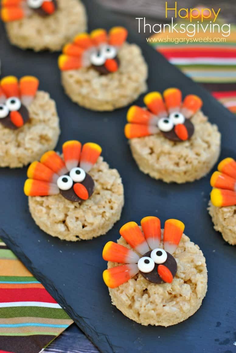 Desserts To Make For Thanksgiving  Turkey Rice Krispie Treats Shugary Sweets