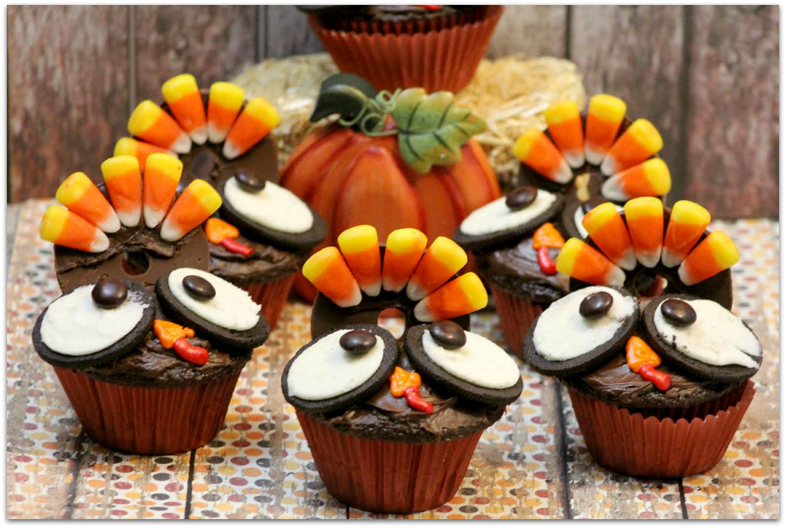 Desserts To Make For Thanksgiving  Thanksgiving Turkey Cupcakes Food Fun & Faraway Places