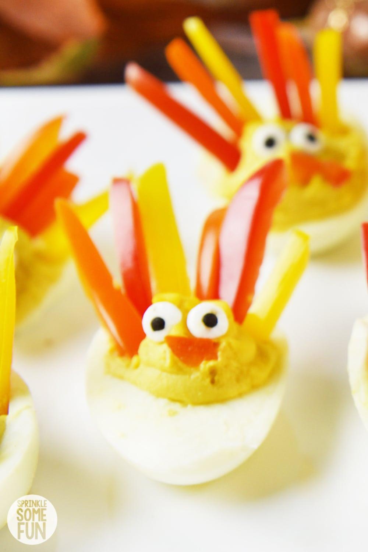 Deviled Eggs For Thanksgiving  Deviled Egg Turkeys ⋆ Easy Turkey Shaped Deviled Eggs