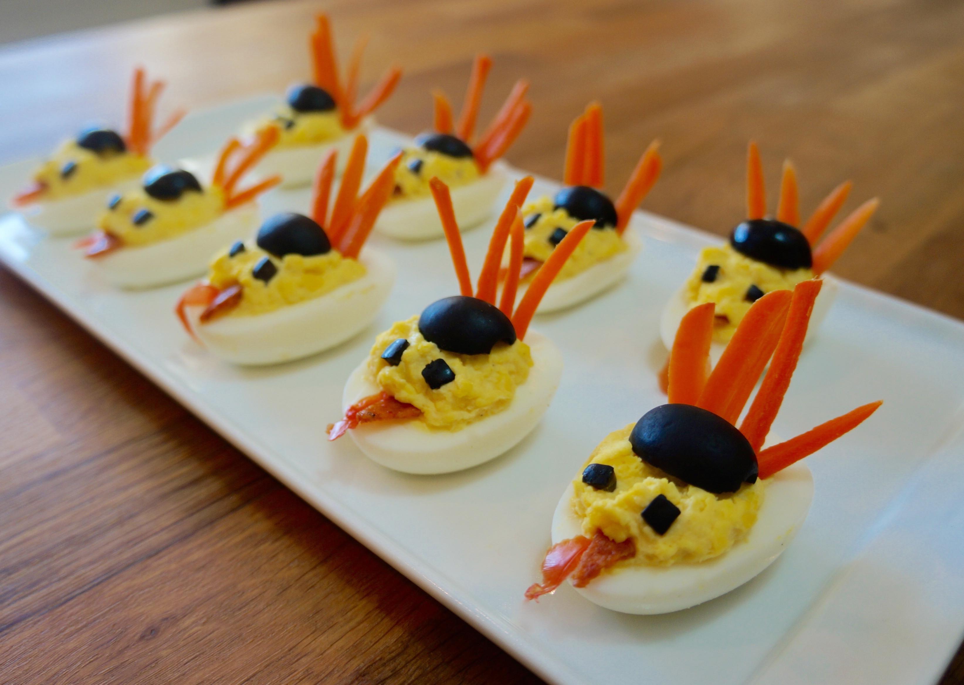 Deviled Eggs For Thanksgiving  Turkey Deviled Eggs Flavor Finds