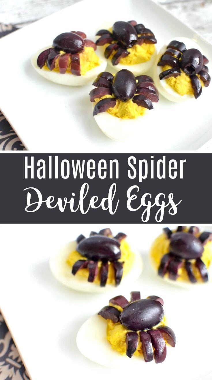 Deviled Eggs Spider Halloween  Best 25 Halloween deviled eggs ideas on Pinterest
