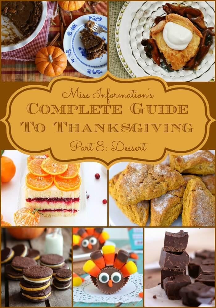 Different Thanksgiving Desserts  Thanksgiving Dessert Recipe Ideas