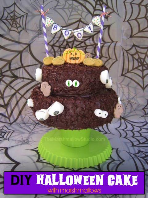 Diy Halloween Cakes  DIY HALLOWEEN CAKE WITH MARSHMALLOWS