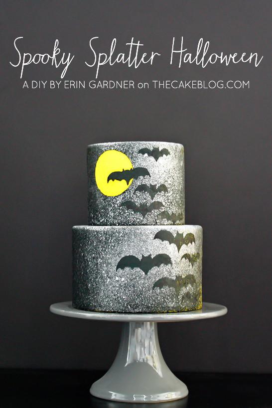Diy Halloween Cakes  Spooky Splatter Halloween Cake