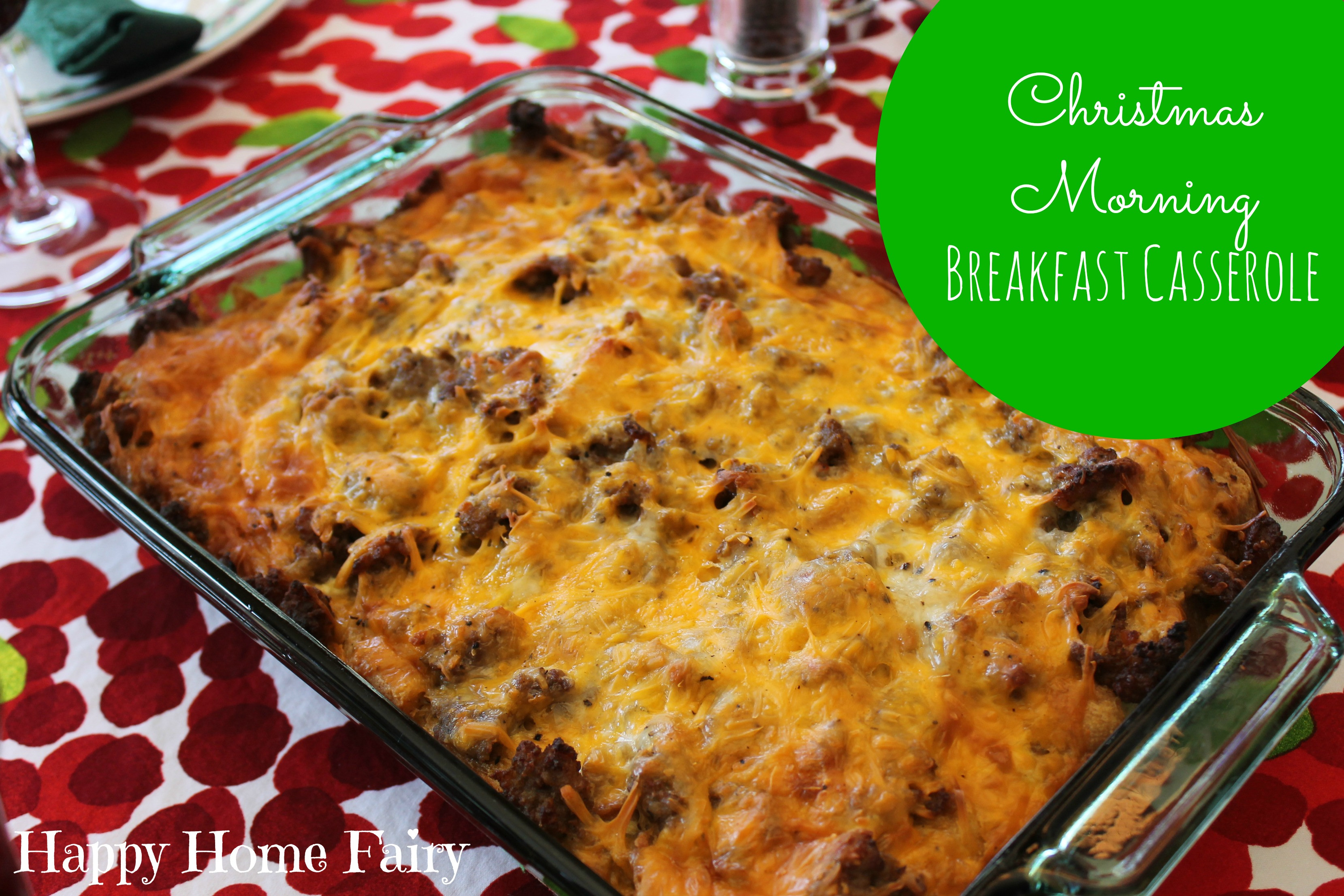Easy Christmas Breakfast Casseroles  Recipe Christmas Morning Breakfast Casserole Happy